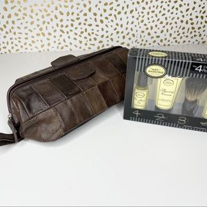 Dopp Leather Toiletry Bag Shaving Kit